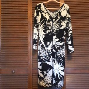 Adrianna Papell Black and White Dress